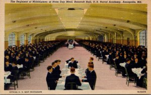 Maryland Annapolis Bancroft Hall Regiment Of Midshipmen At Noon Day Meal U S ...