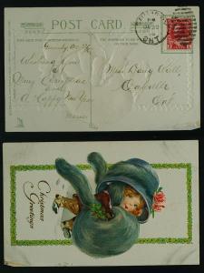 Doll Christmas  Grimsby  Ontario duplex  1916 damaged LR