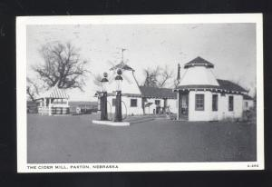 PAXTON NEBRASKA THE CIDER MILL GAS STATION VINTAGE ADVERTISING POSTCARD