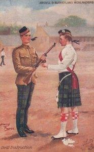 SCOTLAND , 00-10s ;Argyll & Sutherland Highlanders , Drill Instruction ; Harr...