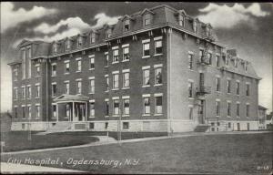 Ogdensburg NY City Hospital c1910 Postcard drx