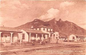 Mexico Old Vintage Antique Post Card Apartamentos La Silla Monterrey, NL Unused