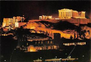 Greece Athens Acropolis at night, Athenes, nuit