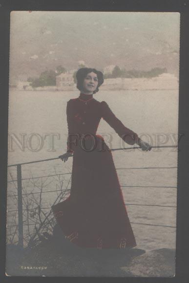 3103408 CAVALIERI Italian OPERA Star near LAKE vintage PHOTO PC
