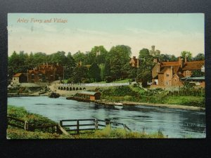 Worcestershire River Severn ARLEY FERRY & VILLAGE c1910 Postcard by J. White