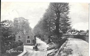 England - Chichester, Sussex- City Walls from East posted  c 1920s #1237