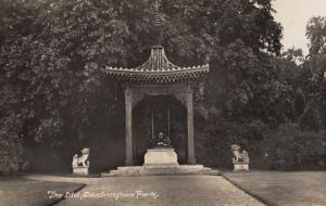 Sandringham Park Idol Buddha Statue Norfolk Antique Real Photo Postcard