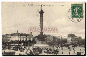 Old Postcard Paris Place de La Bastille