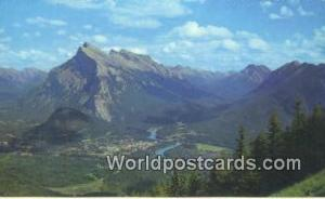 Canada Canadian Rockies Townsite of Banff, Mt Rundle