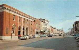Danbury  CT Main Street Post Office Old Cars Postcard