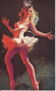 MUTOSCOPE Arcade Card, Beautiful Girl, Sexy Woman Dancing, Zoe Mozert 1940's