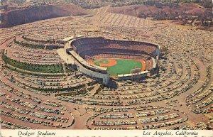 Los Angeles CA Dodger Stadium Aerial View Postcard