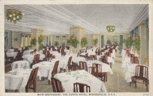 MINNEAPOLIS, Minnesota, PU-1928; Main Restaurant, The Curtis Hotel