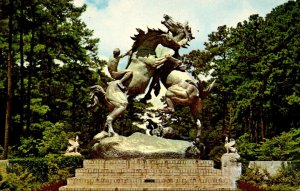 South Carolina Murrels Inlet Brookgreen Gardens The Fighting Stallions&...