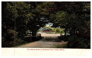 Connecticut  Danielson , The Avenue South of  Wildwood Park , Trolley Station