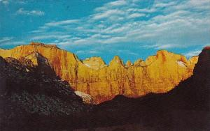 Towers Of The Virginia From Vistor Center Zion National Park Utah 1974