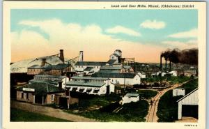 Miami, Oklahoma Postcard Lead and Zinc Mills Bird's-Eye View Mining Curteich