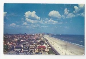 NJ Ventnor Aerial View Beach Prexies Air Mail to Austria PPC