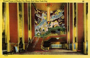 NY - New York City. Radio City Music Hall, Grand Foyer