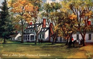 Tucks Homes Of U S Presidents Series Home Of John Tyler Sherwood Forest Virginia