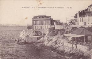 MARSEILLE, Bouches Du Rhone, France, 1900-1910's; Promenade De La Corniche
