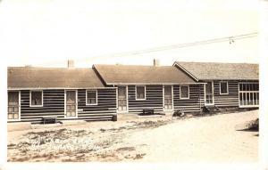 Hot Springs South Dakota Log Cabin Camp Real Photo Antique Postcard K54144