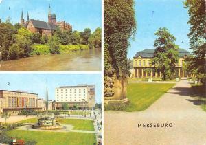 Germany Merseburg Schloss und Dom Gagarinplatz Schlossgarten Castle Fountain