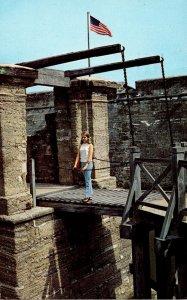 Florida St Augustine Castillo De San Marcos National Monument Draw Bridge Ent...