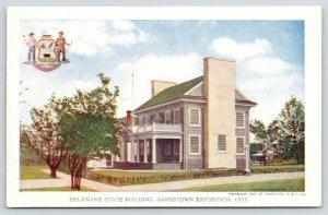 Jamestown Exposition Virginia~Delaware State Bldg~Big Chimney~1907 Official PC