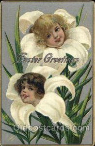 Happy Easter, Fantasy 1909 light crease right top corner, rounded corners fro...