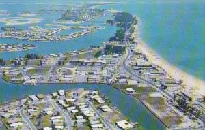 Florida St Petersburg Aerial View Treasure Island Shopping Area
