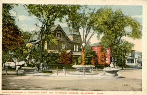 CT - Bridgeport. Wheeler Memorial Fountain; Park & Fairfield Avenues