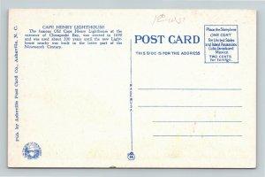 Norfolk VA-Virginia, Cape Henry, Old & New Lighthouse, Bay, Vintage Postcard