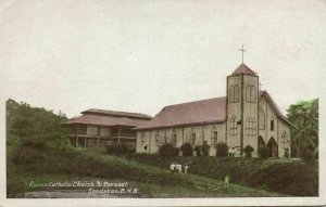 british north borneo, SABAH SANDAKAN, Roman Catholic Church (1920s) Postcard
