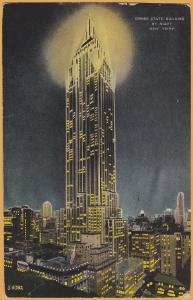 New York, N. Y., The Empire State Building at Night - 1932
