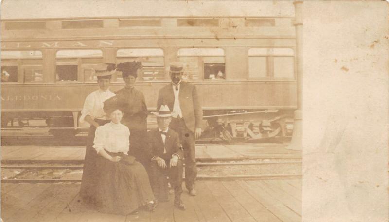 F25/ Interesting RPPC Photo Postcard c1910 Pullman Caledonia Railroad  10