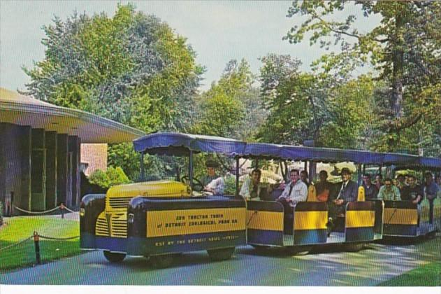 Michigan Detroit Tractor Train Visitor Tour Train Detroit Zoological Park
