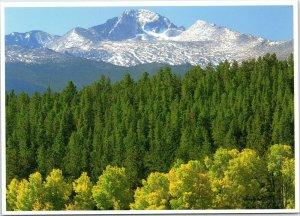 postcard CO Rocky Mountain National Park Longs Peak and Beaver Meadows autumn