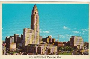 Ohio Columbus City Hall With Le Veque Lincoln Tower In Background State Offic...