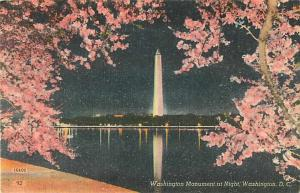 Linen Night View of the Washington Monument Washington DC