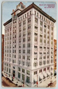 St Louis MO~National Bank of Commerce Building~Olive Street~Razed 1974~1913 PC