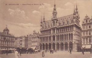 Belgium Brussel Bruxelles Grand Place et Maison Du Roi Market 1912