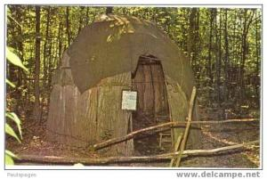 Eastern Woodland Indian Wigwam, Ohio Frontier Land North of  Columbus OH chrome