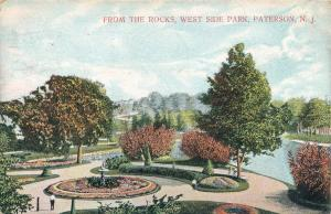 View from The Rocks - West Side Park - Paterson NJ, New Jersey - pm 1910 - DB