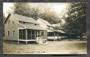 1486 - East Side CLEAR LAKE Indiana 1910s Cottages Real Photo Postcard