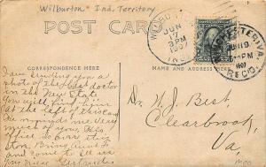Wilburton Indian Territory OK Jeweler Optician Drug Store RPPC Postcard