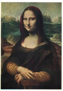 Art postcard Leonardo da Vinci - Mona Lisa