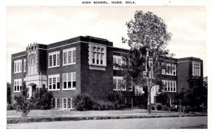 Hugo, Oklahoma - A view of the High School - in the 1940s