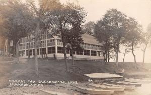 Annandale Minnesota~Clearwater Lake~Murray Inn~Screened Porch~Rowboats~1914 RPPC