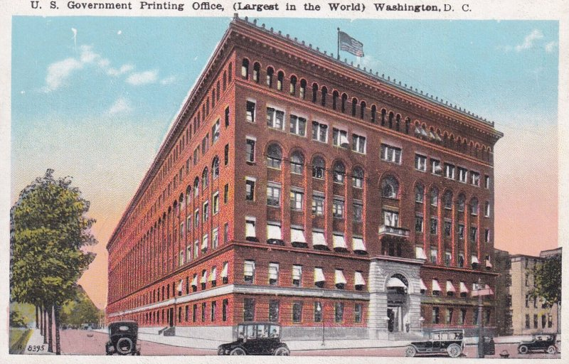 WASHINGTON D.C., 1900-10s; U. S. Government Printing Office, (Largest in the ...